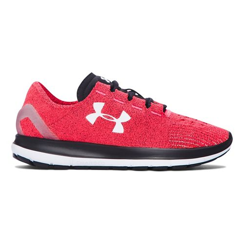 Womens Under Armour Speedform Slingride Running Shoe - Pink Chroma/Black 8.5