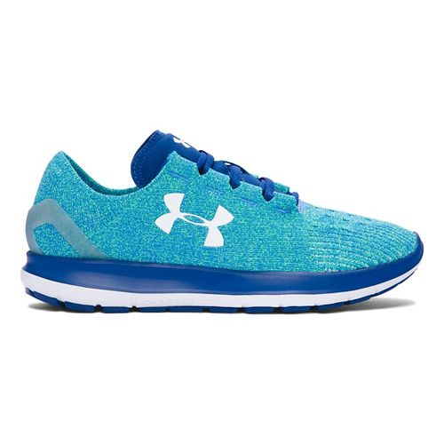 Womens Under Armour Speedform Slingride Running Shoe - Lime/Heron 5
