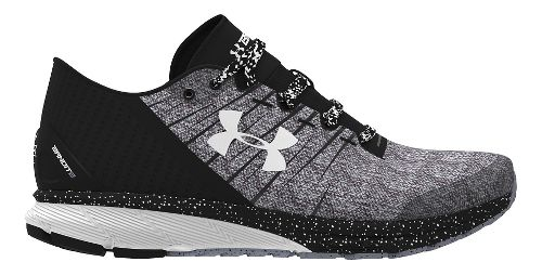 Mens Under Armour Charged Bandit 2 Running Shoe - Black/White 9.5
