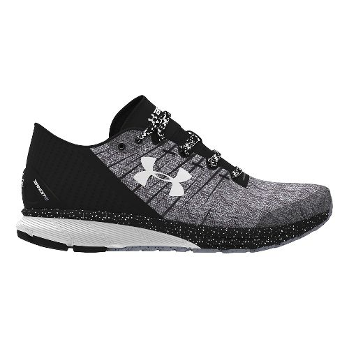 Mens Under Armour Charged Bandit 2 Running Shoe - Black/White 12.5