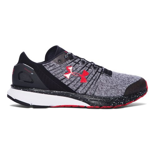 Mens Under Armour Charged Bandit 2 Running Shoe - Black/White 11.5