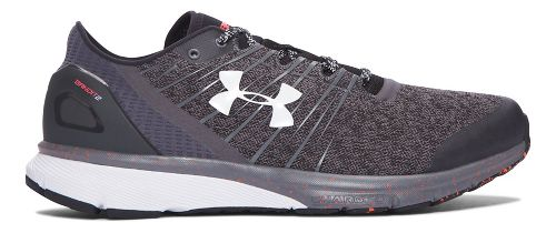 Mens Under Armour Charged Bandit 2 Running Shoe - Rhino Grey/White 15