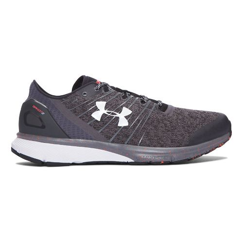 Mens Under Armour Charged Bandit 2 Running Shoe - Rhino Grey/White 9