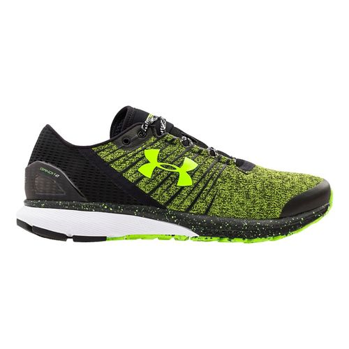 Mens Under Armour Charged Bandit 2 Running Shoe - Hyper Green/Black 14