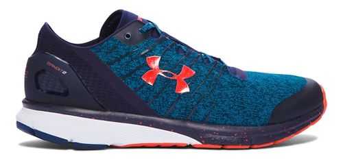 Mens Under Armour Charged Bandit 2 Running Shoe - Peacock/Navy 13