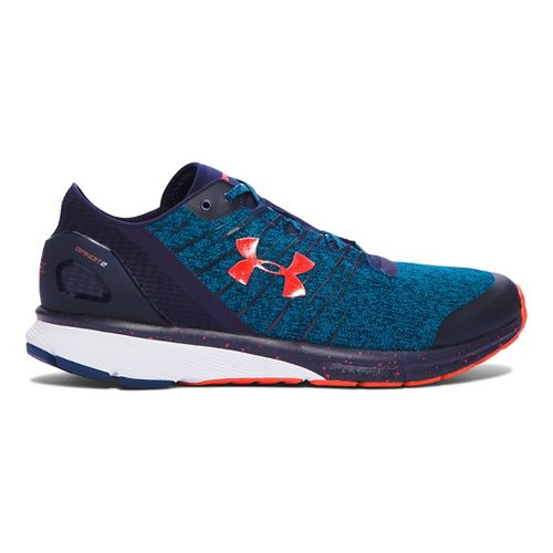 Mens Under Armour Charged Bandit 2 Running Shoe - Peacock/Navy 10.5