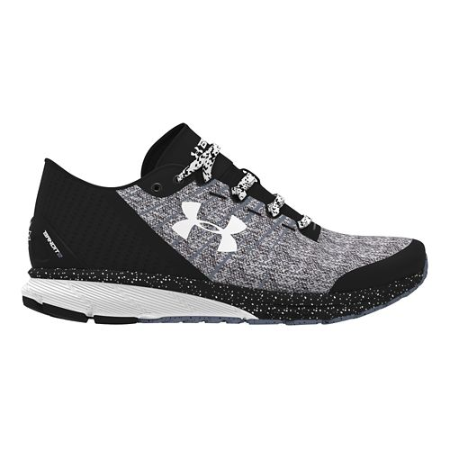 Womens Under Armour Charged Bandit 2 Running Shoe - Black/White 5