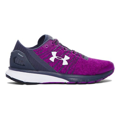 Womens Under Armour Charged Bandit 2 Running Shoe - Purple/Stealth Grey 11