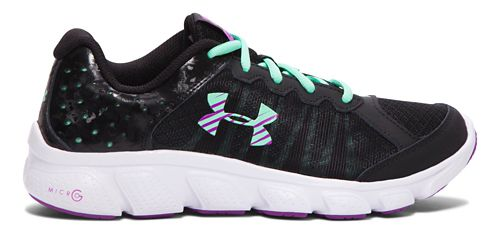 Kids Under Armour Micro G Assert 6 Running Shoe - Steel/Pink 6.5Y