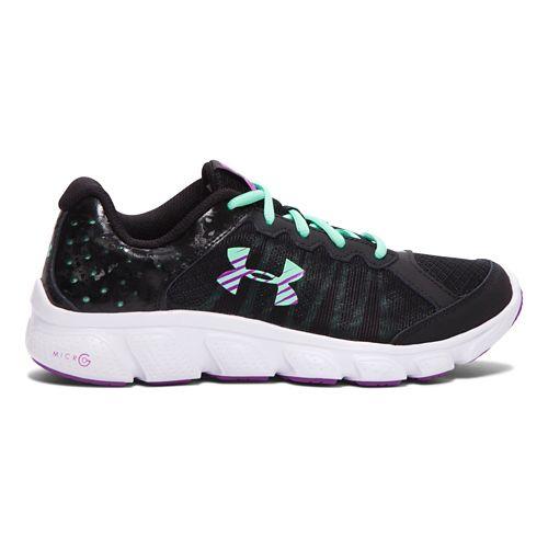 Kids Under Armour Micro G Assert 6 Running Shoe - Black 6.5Y