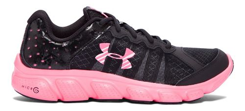Kids Under Armour Micro G Assert 6 Running Shoe - Black/Mojo Pink 6Y