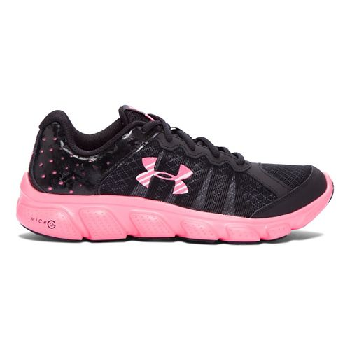Kids Under Armour Micro G Assert 6 Running Shoe - Black/Mojo Pink 5.5Y