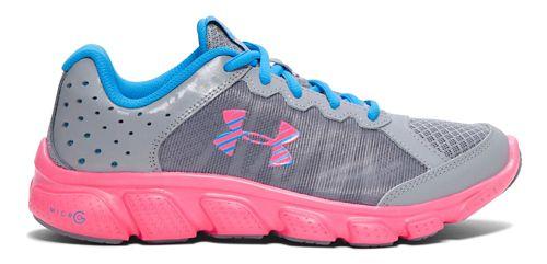 Kids Under Armour Micro G Assert 6 Running Shoe - Steel/Pink 4Y