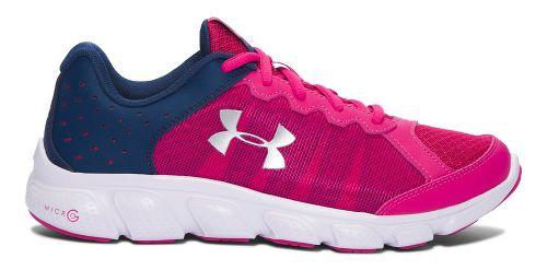 Kids Under Armour Micro G Assert 6 Running Shoe - Pink/Navy 5Y