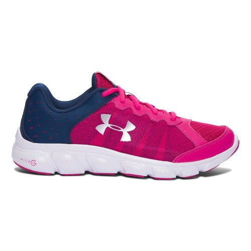 Kids Under Armour Micro G Assert 6 Running Shoe - Pink/Navy 5.5Y