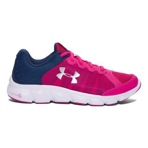 Kids Under Armour Micro G Assert 6 Running Shoe - Pink/Navy 6.5Y