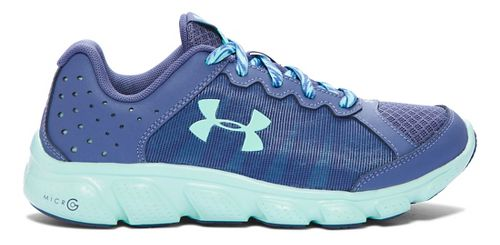 Kids Under Armour Micro G Assert 6 Running Shoe - Purple/Crystal 3.5Y