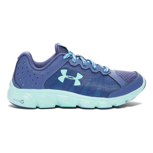 Kids Under Armour Micro G Assert 6 Running Shoe - Purple/Crystal 5.5Y