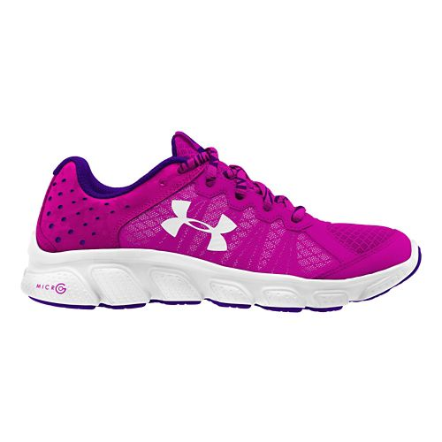 Kids Under Armour Micro G Assert 6 Running Shoe - Pink/White 5.5Y