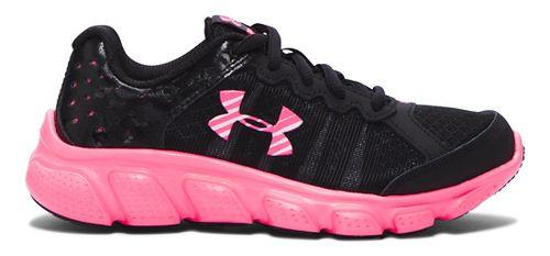 Kids Under Armour Assert 6 Running Shoe - Black/Mojo Pink 12C