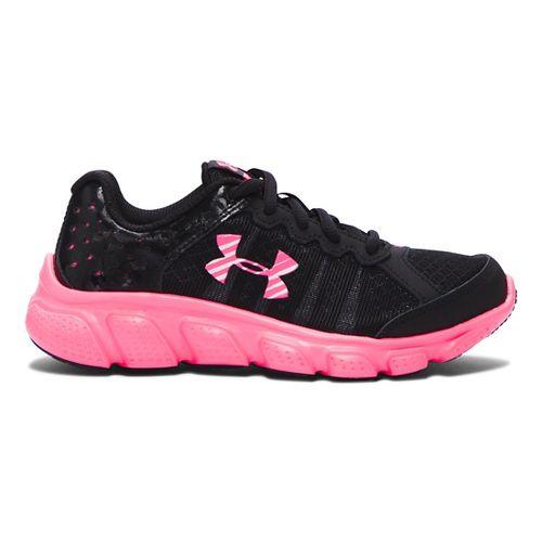 Kids Under Armour Assert 6 Running Shoe - Black/Mojo Pink 12.5C
