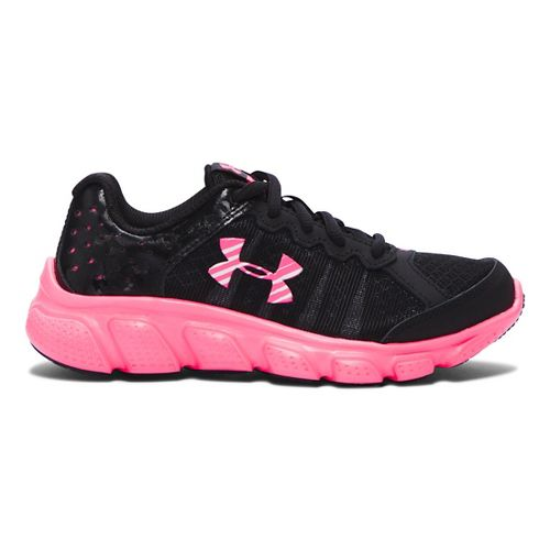 Kids Under Armour Assert 6 Running Shoe - Black/Mojo Pink 2.5Y
