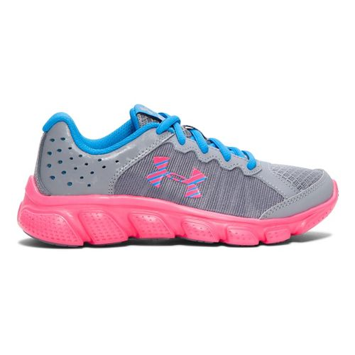 Kids Under Armour Assert 6 Running Shoe - Steel/Red 13.5C