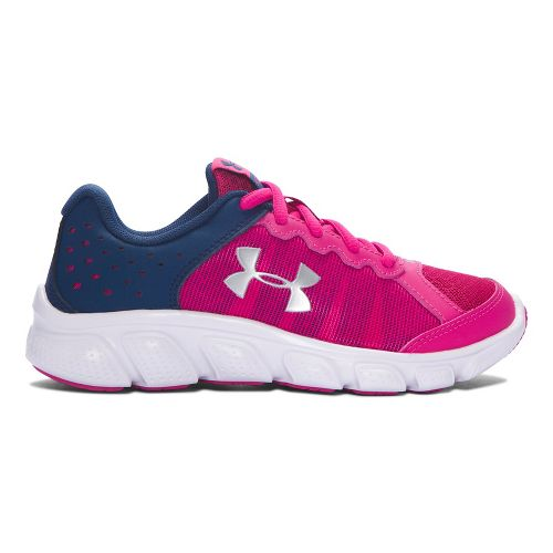 Kids Under Armour Assert 6 Running Shoe - Tropic Pink/Navy 2.5Y