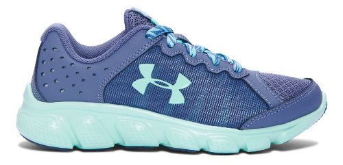 Kids Under Armour Assert 6 Running Shoe - Purple/Teal 2.5Y