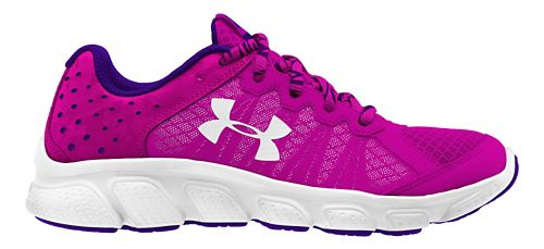 Kids Under Armour Assert 6 Running Shoe - Pink/White 11C