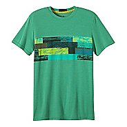 Mens prAna Printed Ridge Tech T Short Sleeve Technical Tops