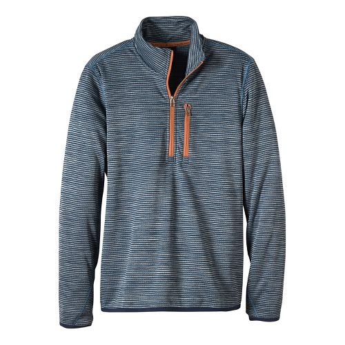 Mens prAna Gatten 1/4 Zip Long Sleeve Half Zip Non-Technical Tops - Blue Ridge S ...