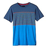 Mens prAna Throttle Colorblocked Crew Short Sleeve Non-Technical Tops