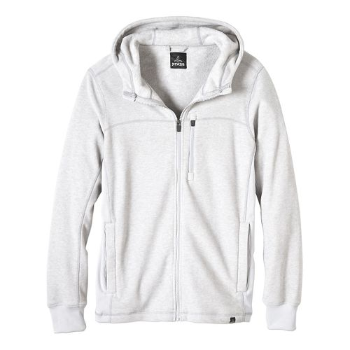 Mens prAna Drey Full Zip Casual Jackets - Silver L