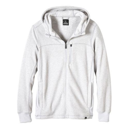 Mens prAna Drey Full Zip Casual Jackets - Silver XL