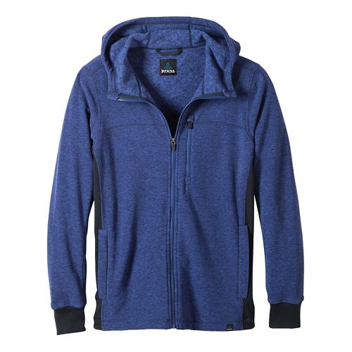 Mens prAna Drey Full Zip Casual Jackets - Sail Blue L