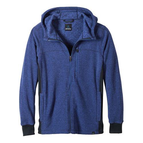 Mens prAna Drey Full Zip Casual Jackets - Sail Blue XL
