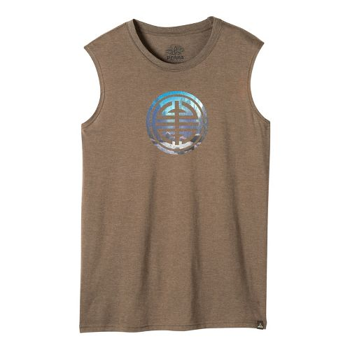 Mens prAna Long Life Sleeveless & Tank Non-Technical Tops - Mud M