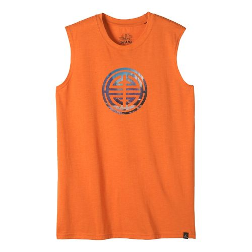 Mens prAna Long Life Sleeveless & Tank Non-Technical Tops - Cayenne L