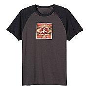 Mens prAna Red Rocks Zen Short Sleeve Non-Technical Tops