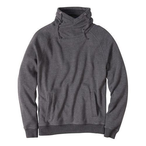 Mens prAna Fordham Hoodie & Sweatshirts Non-Technical Tops - Black Heather M