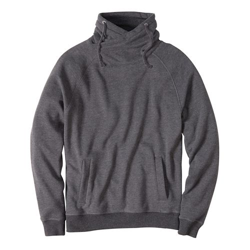 Mens prAna Fordham Hoodie & Sweatshirts Non-Technical Tops - Black Heather XL