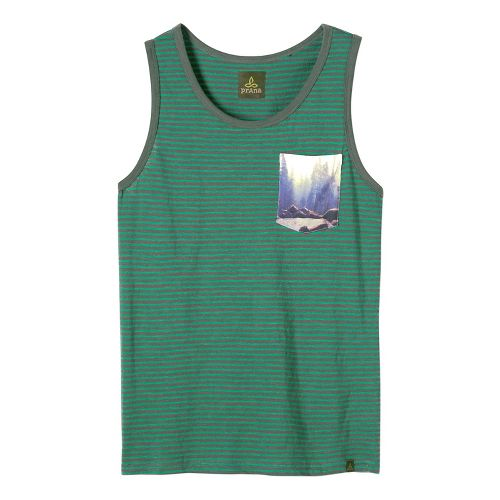 Mens prAna Shuffle Tank Sleeveless & Tank Non-Technical Tops - Evergreen M