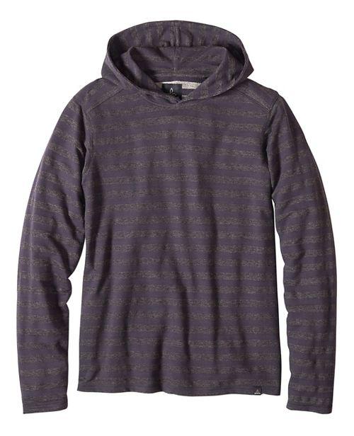 Mens prAna Dugan Hood Hoodie & Sweatshirts Non-Technical Tops - Gravel L