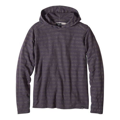 Mens prAna Dugan Hood Hoodie & Sweatshirts Non-Technical Tops - Gravel L