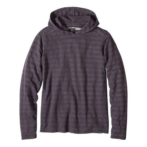 Mens prAna Dugan Hood Hoodie & Sweatshirts Non-Technical Tops - Gravel XXL