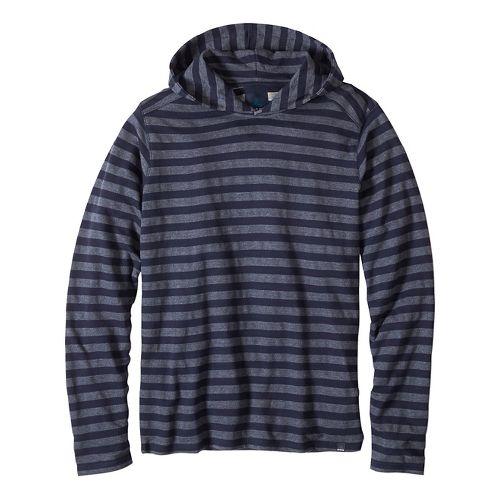 Mens prAna Dugan Hood Hoodie & Sweatshirts Non-Technical Tops - Nautical M
