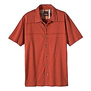 Mens prAna Keylyn Button Front Short Sleeve Non-Technical Tops