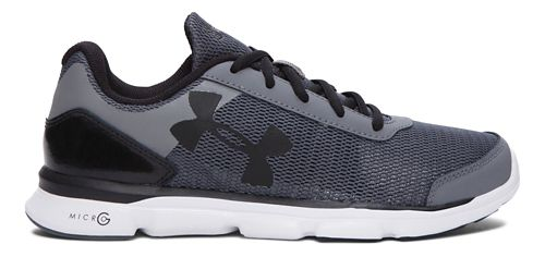 Kids Under Armour Micro G Speed Swift Running Shoe - Grey/Black 5.5Y