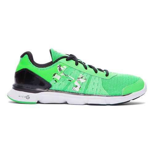 Kids Under Armour Micro G Speed Swift Running Shoe - Laser Green 3.5Y